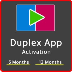 Activation ou Renouvelement DuplexPlay Media Player OU Duplex iptv.